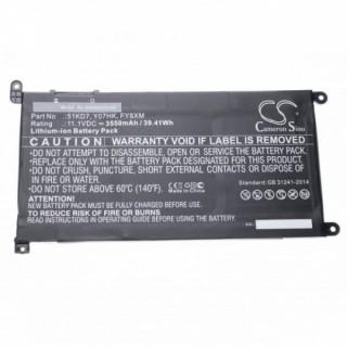Batteria per Dell ChromeBook 11 3180 / 11 3189, 3550 mAh