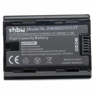 Batteria NP-W235 za Fuji FinePix XT4, 1600 mAh