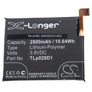 Batteria per Alcatel One Touch 3 Dual SIM, 2800 mAh