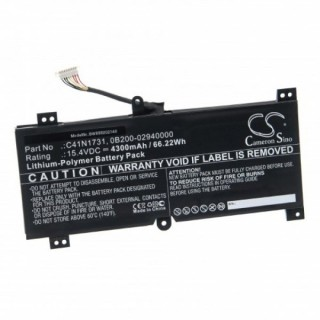 Batteria per Asus GL504GV / G515GV / G715GV / GL764GW, 4300 mAh
