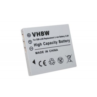 Batteria DB-L20 per Sanyo Xacti DMX-C1 / VPC-C1 / VPC-J1, 550 mAh