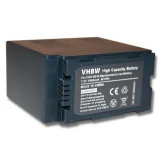Batteria CGA-D54S / CGR-D120 per Panasonic AG-DVC30 / NV-DS11 / NV-MX1, 5400 mAh