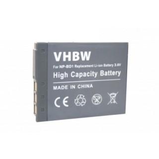 Batteria NP-BD1 per Sony Cybershot DSC-T2  / DSC-T900 / DSC-TX1, 500 mAh