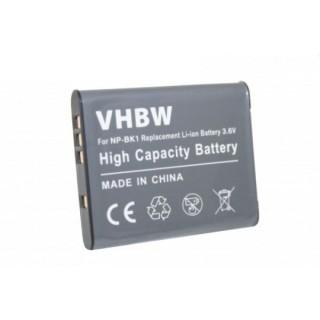 Batteria NP-BK1 per Sony CyberShot DSC-S750 / DSC-S950 / DSC-W370, 600 mAh