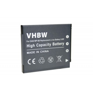 Batteria NP-60 per Casio Exilim EX-FS10 / EX-S12 / EX-Z90, 550 mAh