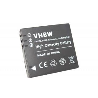 Batteria CGA-S008 per Panasonic Lumix DMC-FX30 / DMC-FS20 / DMC-FX500, 600 mAh