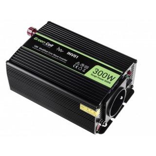 Invertitore da auto da 12V a 230V, 300W/600W