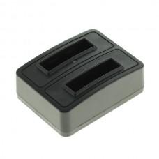 Caricabatterie per batteria Olympus LI-50B / Pentax D-Li92 / Ricoh DB-100 / LB-050, MicroUSB, doppio