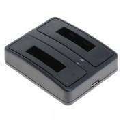 Caricabatterie per batteria Canon NB-5L, MicroUSB, doppio