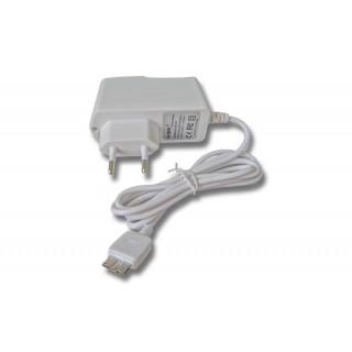 Alimentatore per tablet Lenovo / Medion / Samsung con connettore MicroUSB, USB 3.0, bianco, 2,1A