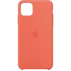 Silikonski ovitek per Apple iPhone 11 Pro Max, clementine, originale