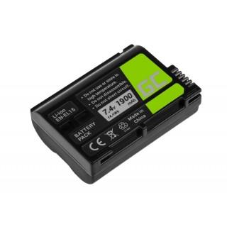 Batteria EN-EL15 per Nikon D600 / D800 / D800E / D7000 / D7100 / D8000, 1900 mAh
