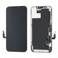 Vetro e schermo LCD per Apple iPhone 12 / 12 Pro, nero