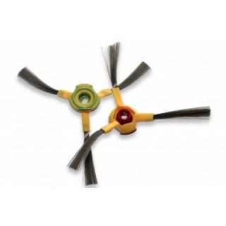 Set di spazzole laterali a tre lati per Ecovacs Deebot D73 / D76 / Hoover RVC0010 / RVC0011