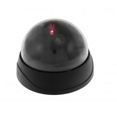 Falsa telecamera di sicurezza con lampada LED lampeggiante, tonda